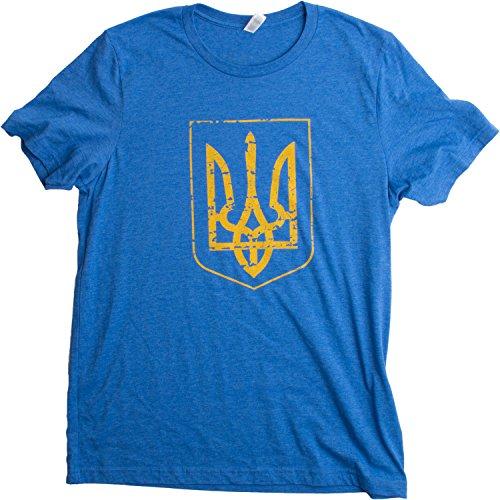 Ukraine Pride | Vintage Style, Retro-Feel Ukrainian Coat of Arms Unisex T-shirt-Adult,L