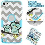 Touch 5,iPod Touch5, Case, iPod touch 5 Case Chevron Sleepy Owls, MagicSky High Impact Armor Case Cover Protective Case for Apple iPod Touch 5 5th Generation - 1 Pack(Sky Blue)
