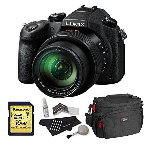 Panasonic Lumix DMC-FZ1000 4K QFHD/HD 16X Long Zoom Digital Camera (Black) + Panasonic 16 GB UH3 SD Card + Camera Bag + Camera Cleaning Kit (Panasonic Lumix Dmc Fz100 compare prices)