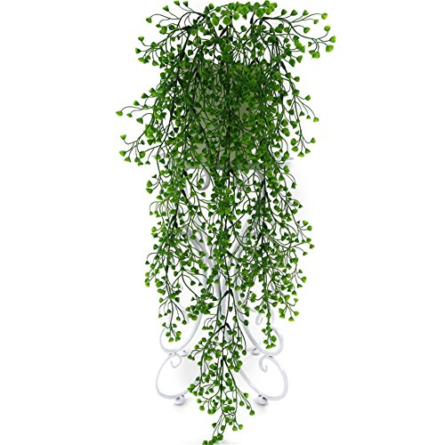 Bluelans Artificial Osier Rattans Plastic Bracketplant Plant Fake Greenery Wall Decor
