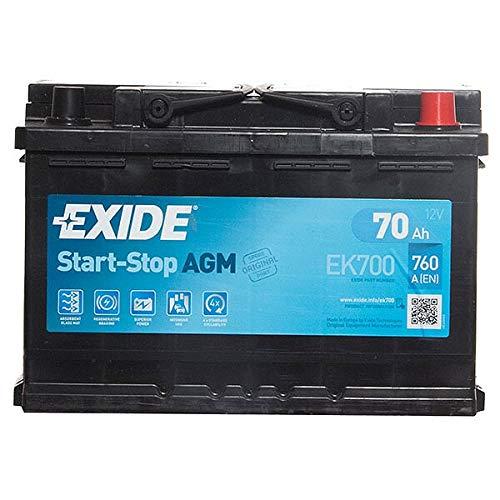 Exide Ek700&Nbsp;Agm Car Battery: