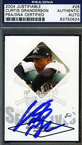 CURTIS GRANDERSON 2004 ROOKIE PSA/DNA CERTIFIED SIGNED AUTHENTIC (2004 Baseball Hall Of Fame)