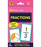 Carson Dellosa | Fractions Flash Cards | Basic Math, 54ct