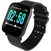 Opta SB-082 Aluminium Heart Rate Monitor Smart Watch (Black)