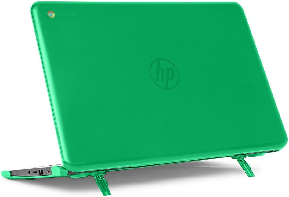 "mCover Hard Shell Case for 14"" HP Chromebook 14 G5 / 14-CA / 14-DB Series (NOT Compatible with Older HP C14 G1 / G2 / G3 / G4 Series) laptops (HP C14-G5 Green)"