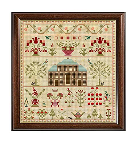 - Antique 1817 Brick House Regency Scottish Sampler Reproduction Cross Cross Stitch Counted Chart PDF on CD Unique Easy to Make Vintage English Embroidery Needlepoint European Scotland
