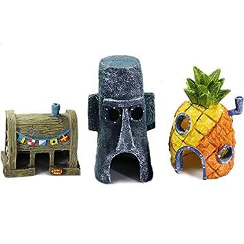 Casa de Piña Ornamento del acuario Pecera Paisaje de decoración Crustáceo cascarudo: Amazon.es: Productos para mascotas