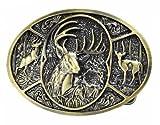 us forest service belt - Bronze Deer Collage Belt Buckle Southern Hunting Forest Head