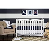 Dream on Me Chelsea White Wood 5-in-1 Convertible Crib