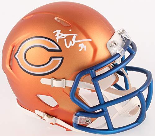 Brian Urlacher Chicago Bears Signed Autograph Blaze Speed Mini Helmet Radtke Sports Certified