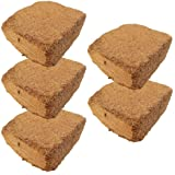 Coconut Coir Bricks - Coco Peat - Best Alternative to Peat Moss - Mix with Potting Soil - Coconut Growing Medium Good for Potted Plants, Garden, Planting Beds and Worm Farms - Coconut Coir Blocks Average Weight 10 Ounces (280 Grams) Each - 5 Pack