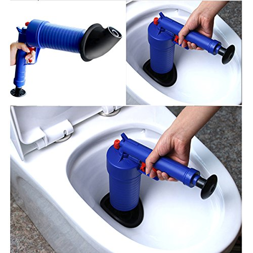 Toilet Plunger, 2018 AIR PUMP BLASTER ,Professional Power Plunger High Pressure Air Drain Blaster Pump Plunger Sink Pipe Clog Remover (Air Typhoon Pump)