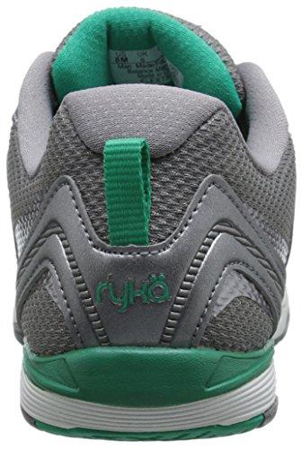 Ryka Flextra de formación de las mujeres zapatos Frost Grey/Pewter/Vivid Green