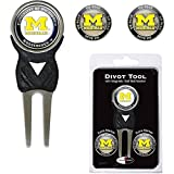 Team Golf MICHIGAN WOLVERINES DIVOT TOOL PACK w/3 GOLF BALL MARKERS