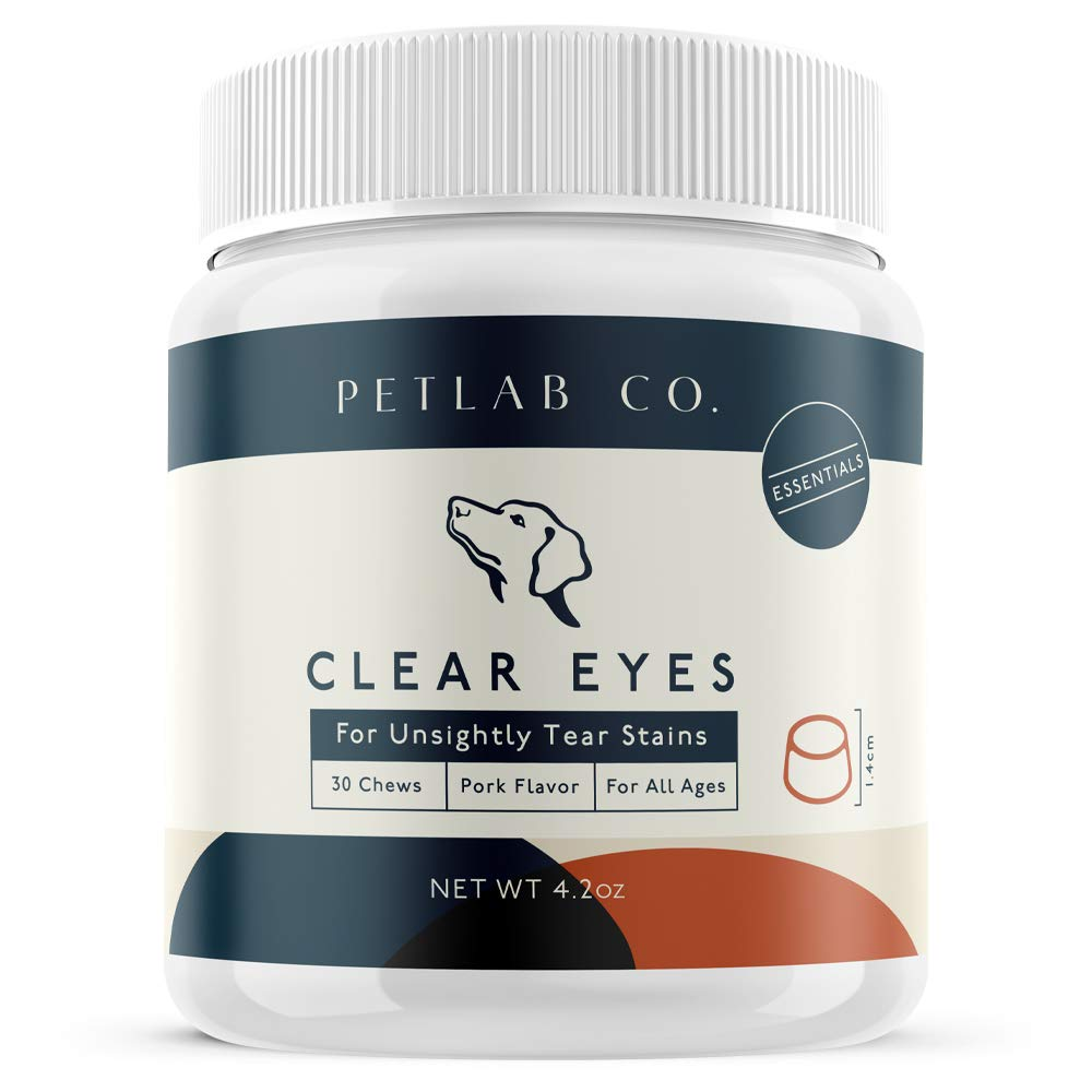 Petlab Co. Clear Eyes Chews for Dogs | No More Tear Stains - Natural Tear Stain Remover Supplement | Sea Kelp, Cranberry, Vitamin C, Marshmallow Root, Eyebright Herb, Alpha Linolenic Acid by Petlab Co.