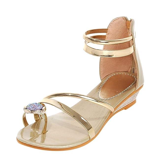 Darringls_Sandalias para Mujer,Zapatos De Boda De Las Mujeres Rhinestones Plataforma del Dedo del Pie