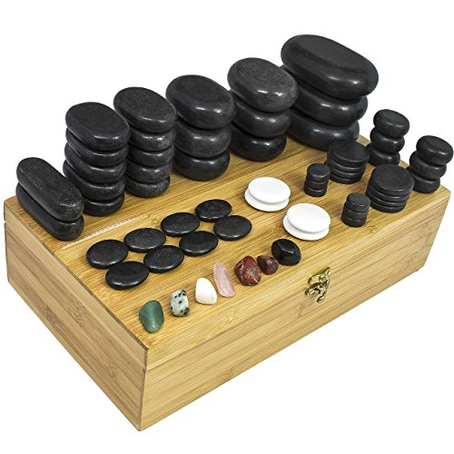- Sivan HEALTH and FITNESS Basalt Lava Hot Stone Massage, 60 Piece Kit *New and Improved Packaging*