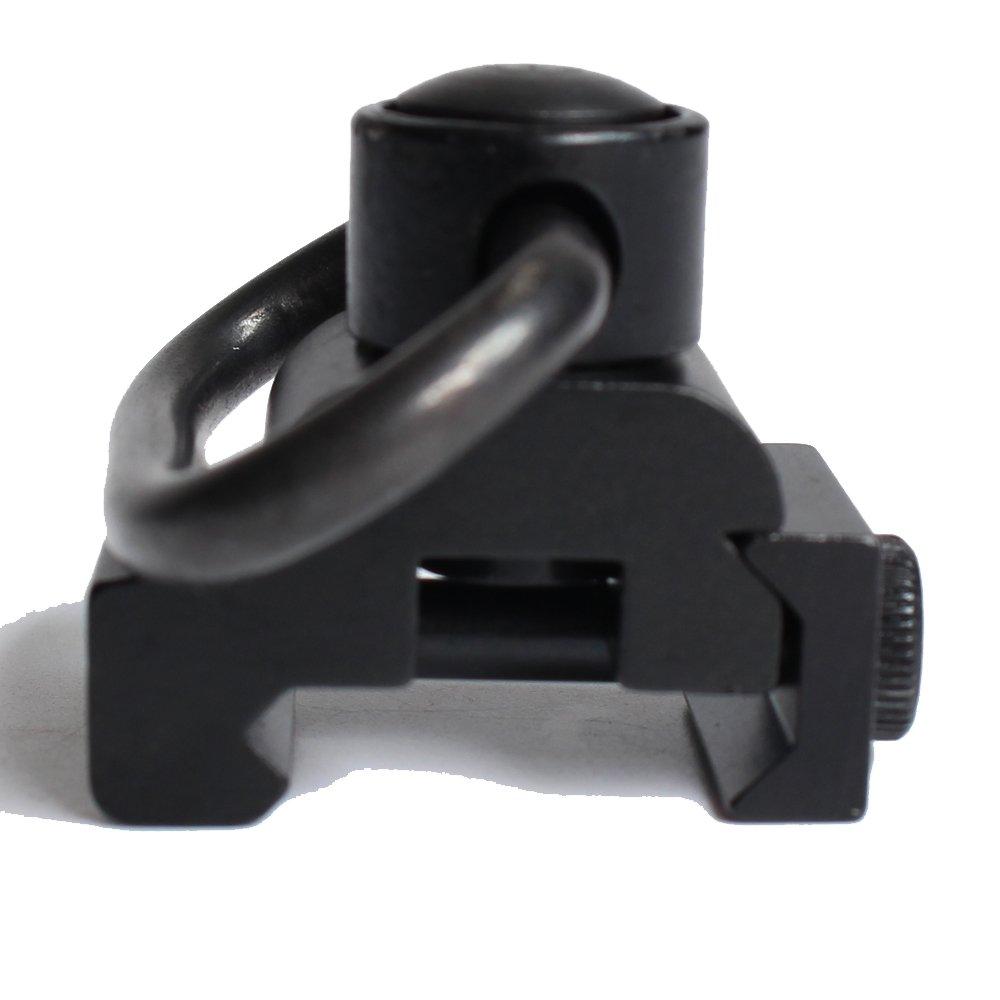 hongbest Picatinny rail base bague de fixation 20mm QD résistant libération rapide bouton sangle