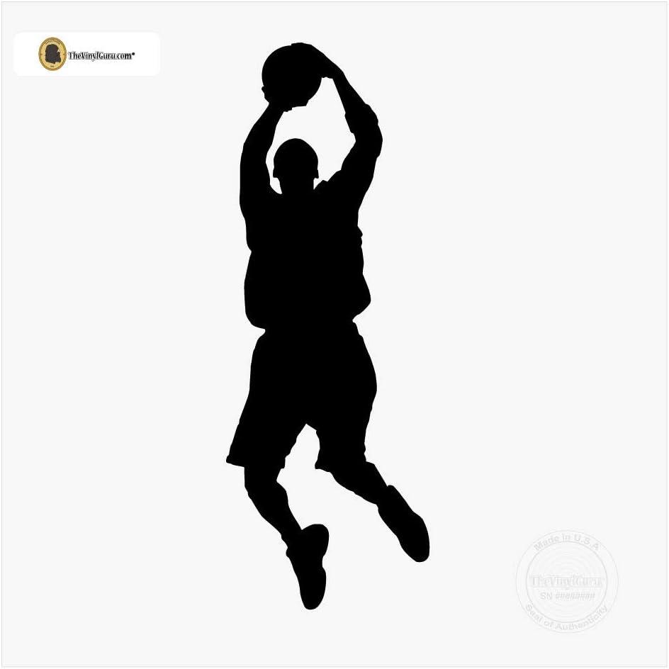 TheVinylGuru - Basketball Wall Decal - Throwing Ball Vinyl Art Silhouette for Home Decor
