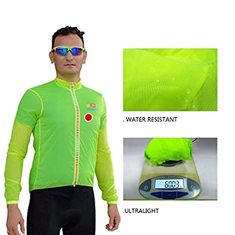 Darevie Mens Professional Ultra Light-Weighted Anti-UV Cycling Windproof Jacket Windcoat
