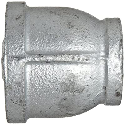 Anvil Malleable Iron Pipe Fitting, Class 150, Reducer Coupling, NPT Female, Galvanized Finish