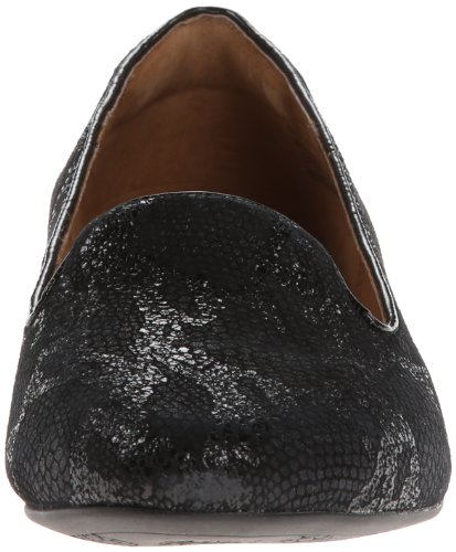 Clarks Womens Valley Lounge Flat, Black, 6 M Us