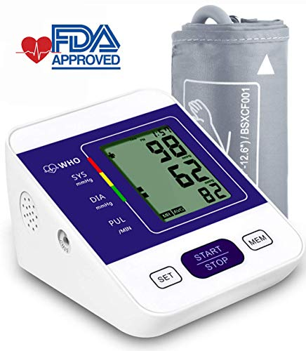 Upper Arm Blood Pressure Monitor Machine,2 Users Mode/198-Reading Memory/Adjustable Cuff BP Monitor