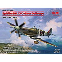 PLASTIC MODEL AIRPLANE BUILDING KIT SPITFIRE MK.IXC ' BEER DELIVERY ' , WWII BRITISH FIGHTER 1/48 ICM 48060