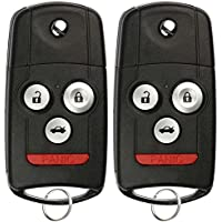 KeylessOption Keyless Entry Remote Control Car Key Fob Replacement for MLBHLIK-1T (Pack of 2)
