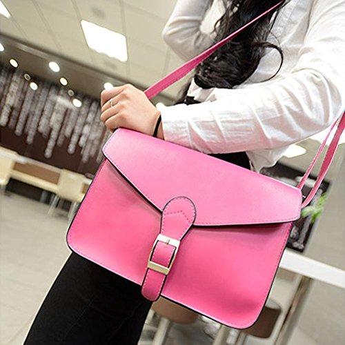 Hombro rosa De Cuero Mujer para bolso messenger De Asas maletín De Nuevos Bolsa Widewing bolso anxXq7