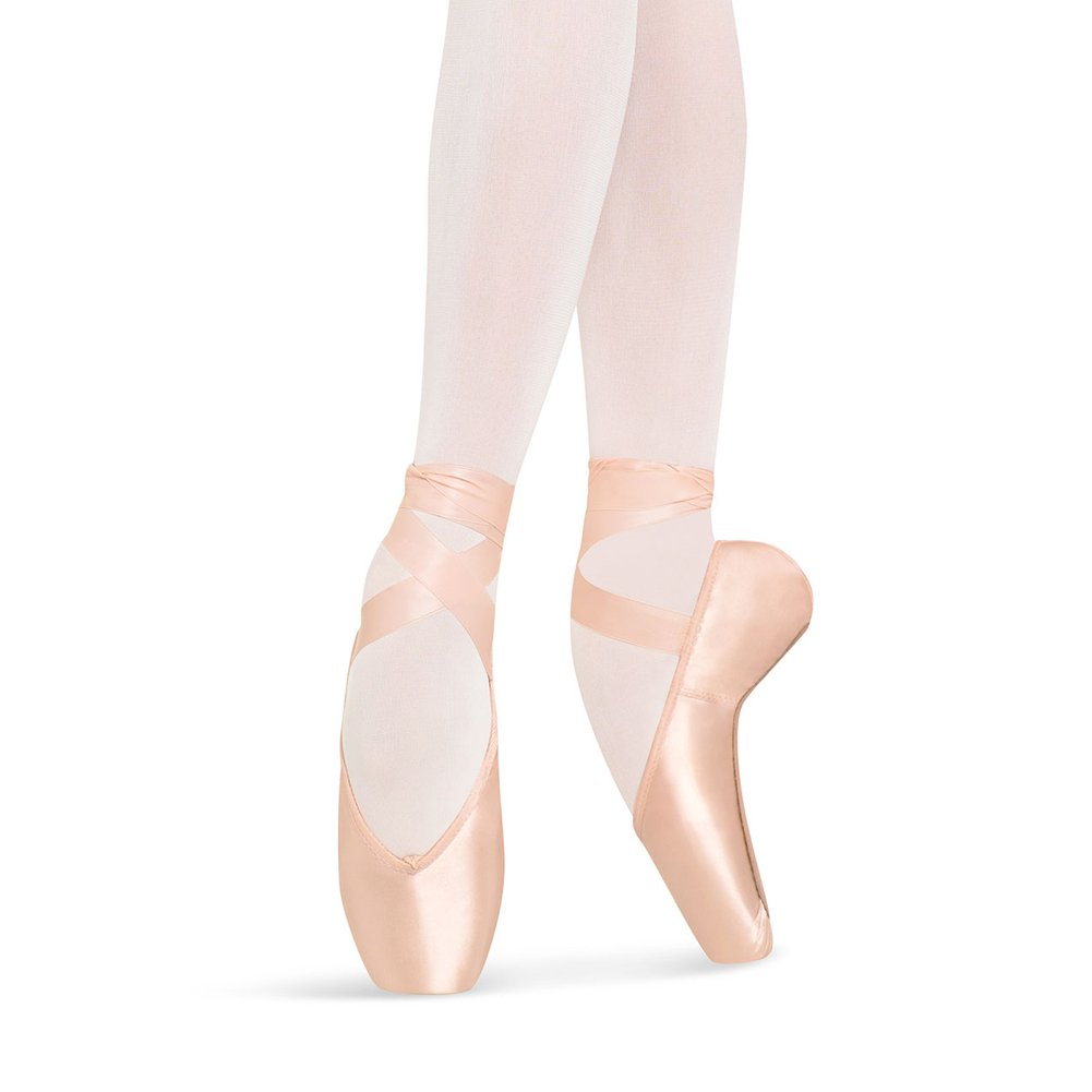 Bloch Women's Heritage Strong Ballet Pointe Fashion Dance Shoes, Pink Satin, Leather, Cotton, 5 (3X)