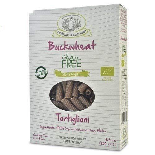rustichella d'abruzzo Organic Gluten Free Buckwheat Tortiglioni, 8.8 Ounce (Pack of 3)