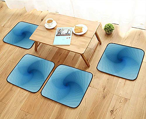 (Jiahonghome Anti-Skid Chair Cushions Techno Abstract Background with Spiral and Twist Cyberspace Template Health is Convenient W19.5 x L19.5/4PCS Set)