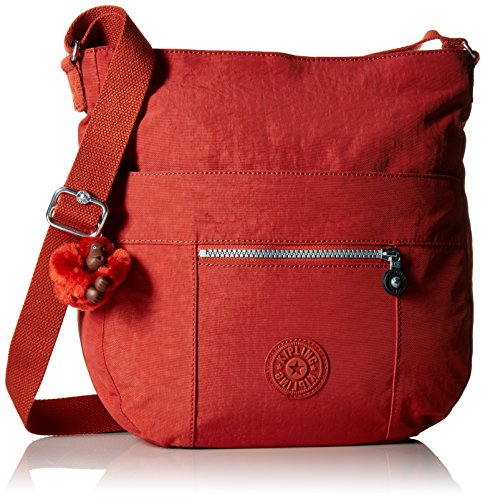 Kipling Bailey Solid Hobo Crossbody Bag, red Rust