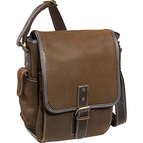 Bellino the Outback Sling, Brown (Bellino Leather Messenger Bag)
