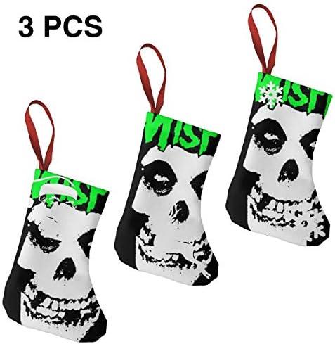 クリスマスの日の靴下 (ソックス3個)クリスマスデコレーションソックス Misfits クリスマス、ハロウィン 家庭用、ショッピングモール用、お祝いの雰囲気を加える 人気を高める、販売、プロモーション、年次式