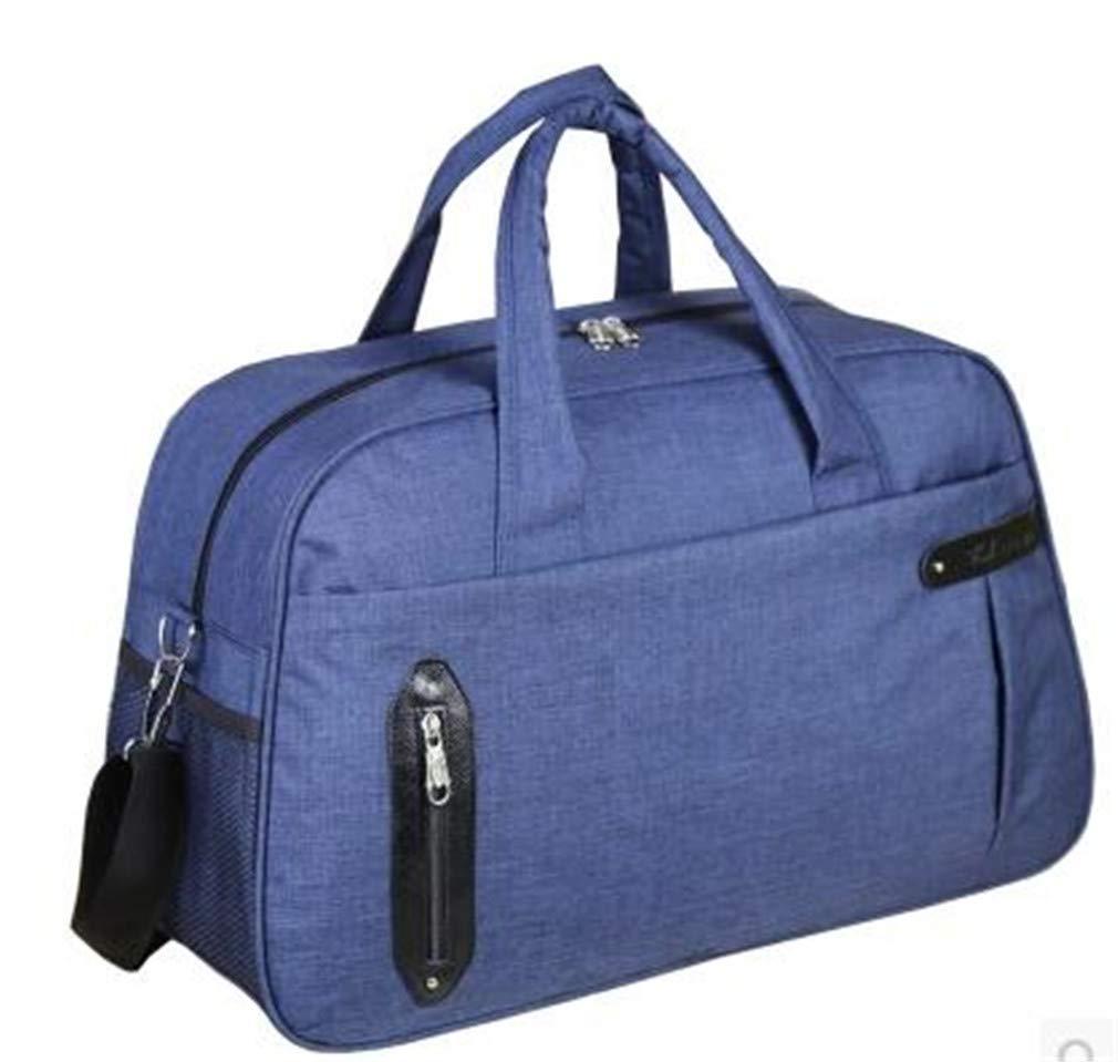 Waterproof Large Capacity Travel Bag Unisex Luggage Travel Handbags BLUE by UINTAGEE
