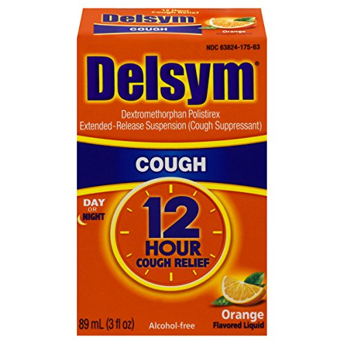 Delsym Adult Cough Suppressant Liquid, Orange Flavor, 3 Ounce (Pack of 11)