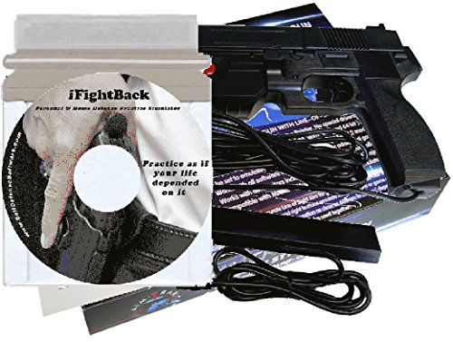 The iFightBack Personal & Home Defense Training Simulator bundled with the AimTrak Light Gun Controller.