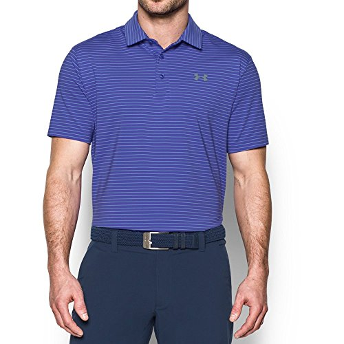 Under Armour Mens Playoff Polo  Purple Chic Steel  Large