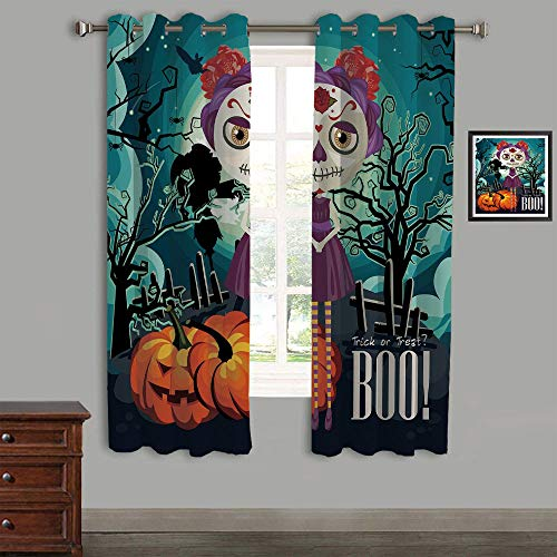 Printed Kids Curtains,Polyester Curtains Panels for Bedroom,Living Room,105