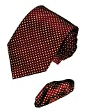 LORENZO CANA - Luxury Italian 100% Silk Woven Tie Hanky Set Jacquard Dots Necktie - 8411501