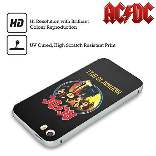 Officiel AC/DC ACDC Route Au Diable Titres De Chanson Argent Étui Coque Aluminium Bumper Slider pour Apple iPhone 5 / 5s / SE