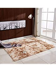 Mainstayae Ultra Soft Tie-Dye Style Gradient Color Carpet Floor Bedroom Mat Rectangle Shape Fluffy Rug for Living Room Bedroom Balcony Hallway Mat