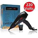 3800 turbo hair dryer - Turbo Power Twin Turbo 3800 Ionic & Ceramic Black - 220 volts