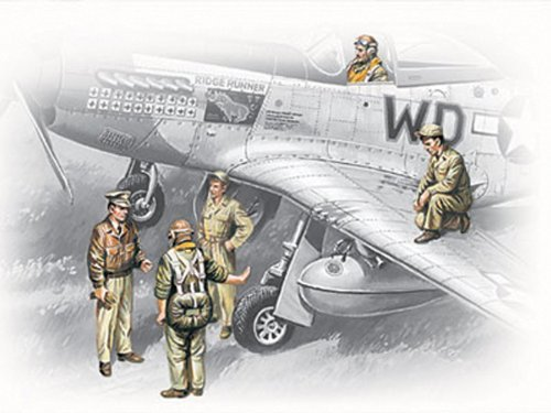 - ICM 48083 WWII USAAF Pilots and Ground Personnel 1:48 by ICM Models