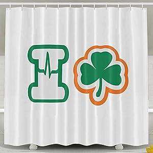 I Love Irish Shower Curtain Bathroom