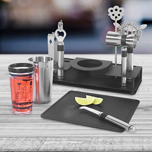 10-piece cocktail shaker and bar tool set