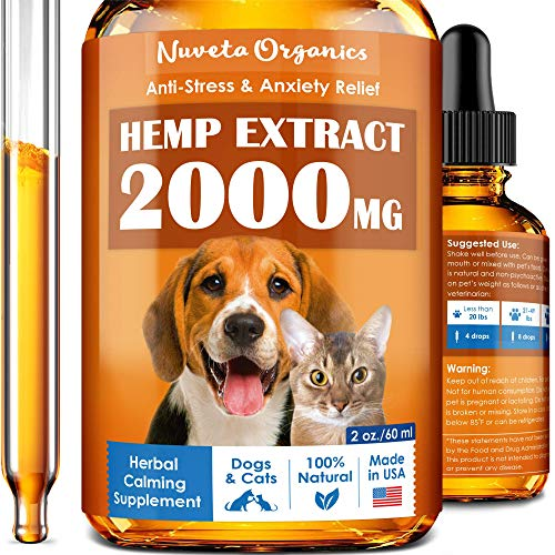 Hemp Oil Dogs Cats 2000mg product image