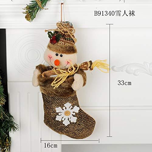 Top Shishang 1pcs Lujo Personalizado Bordado a Mano de Navidad Media 3D de Santa Claus/Reno Caramelo Bolsa de llenado Chimenea árbol de Navidad,B3,Alces ...